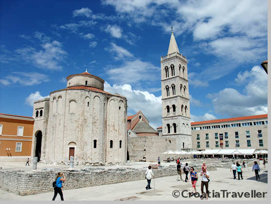 Zadar: Roman forum and St Donat church