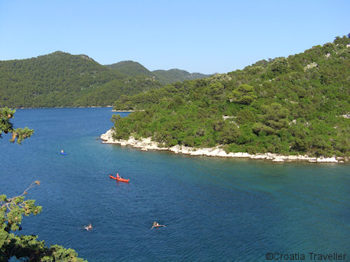 Mljet island lake
