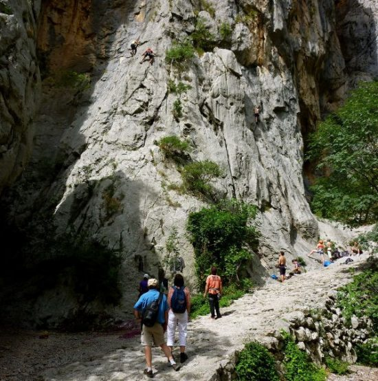 Hikers in Paklenica National Park