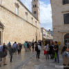 Visitors on Dubrovnik's Stradun